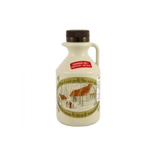 Чистый кленовый сироп №1 Средний - 500 мл (660 г)