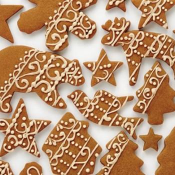 Рождественское пряное имбирное печенье
